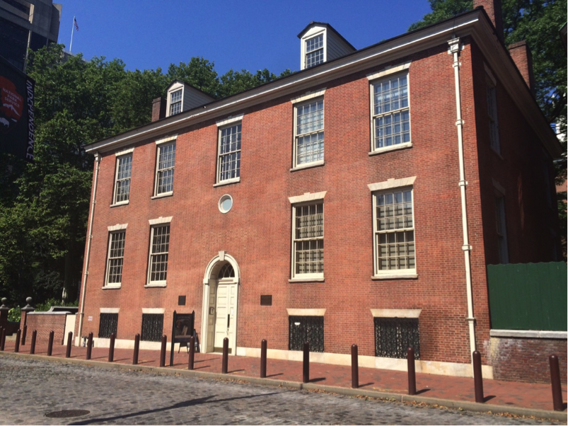 Philosophical Hall, where the American Philosophical Society Museum is located.