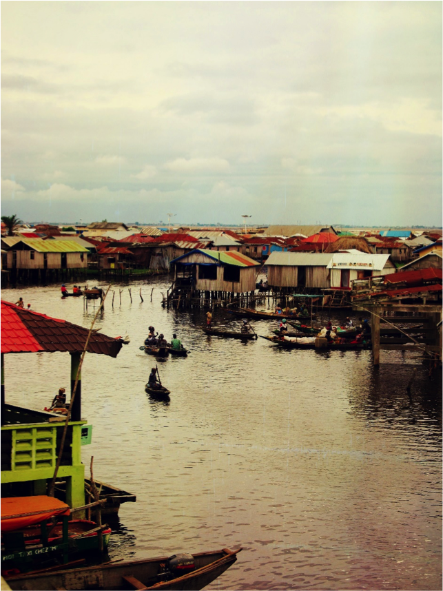 The village on the water in neighboring country Benin
