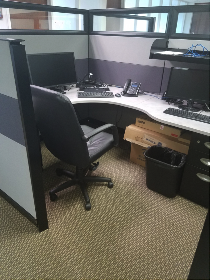 The cubicle I worked at for a few weeks in the beginning.