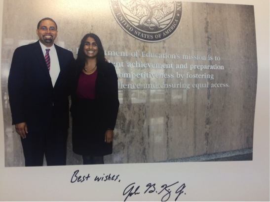 My signed photo with Secretary John King.